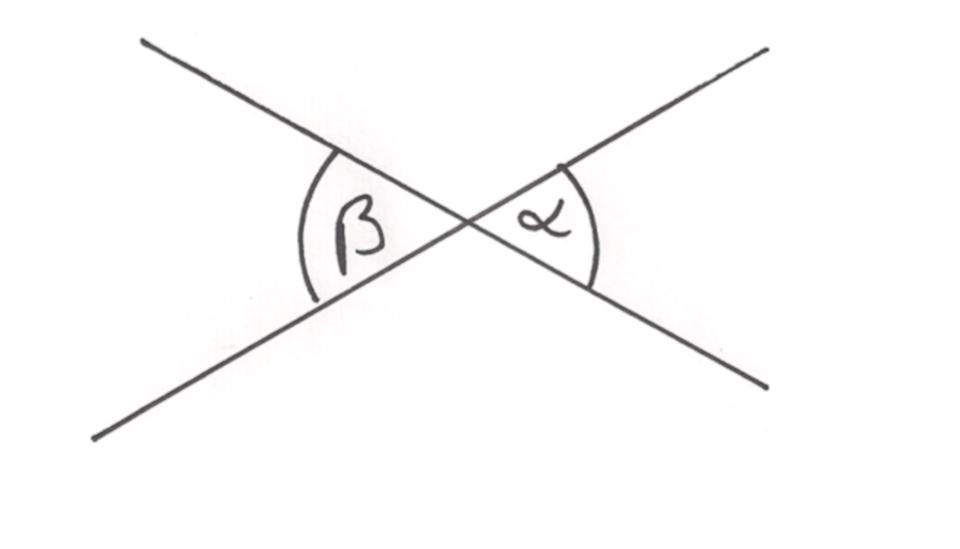 Darstellung eines Scheitelwinkels
